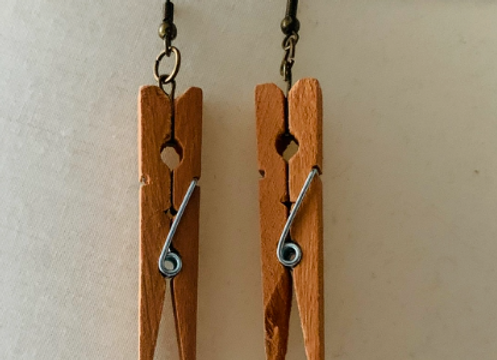 Buttercup - Clothes Pin Earrings
