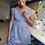 Thumbnail: Trillium Dress - Blue/White Stripe