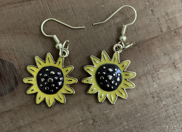 Sunflower Earrings - Small