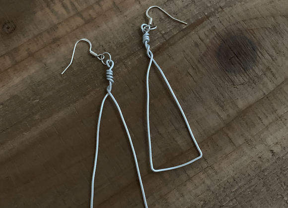 Trio - Triangle Wire Earrings