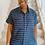 Thumbnail: Navy Blue/White Stripe Shirt Dress