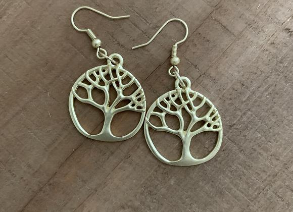 Family Tree Earrings - Gold