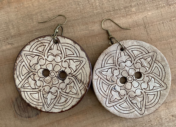 Buttercup - Large Button Earrings