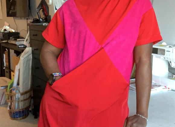 Maxine Dress -Red + Fucshia