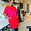 Thumbnail: Maxine Dress -Red + Fucshia