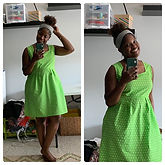 🌻 Sew I made this lovely bright green d