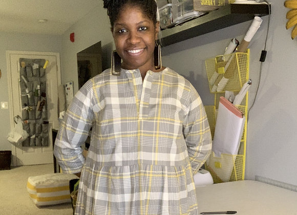 NewLook6511 - Yellow + Gray Plaid