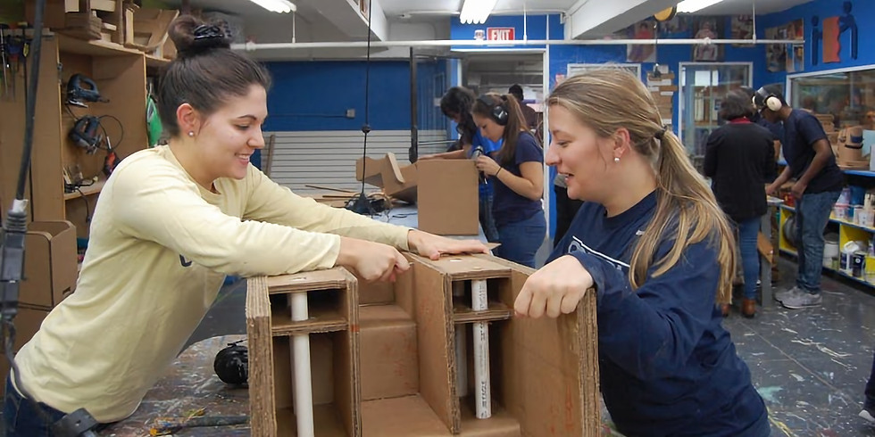 Building with cardboard for a good cause - Airbnb