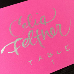 Escort Card Celia style