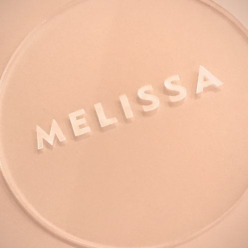 Laser Cut Round Acrylic Placecards