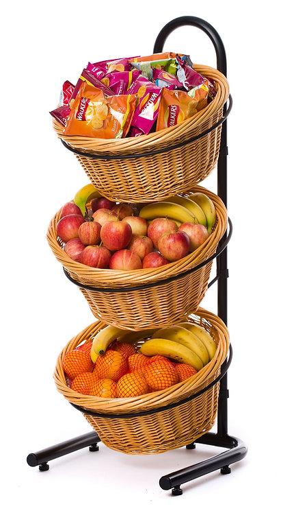 DWD-W3F 3 Tier Wicker Basket Display Stand