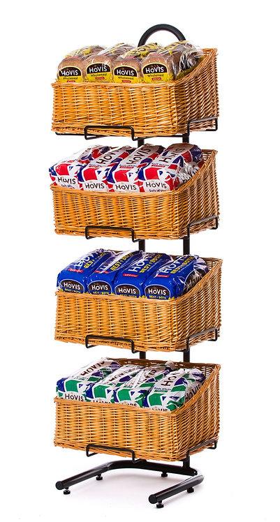 DWD-W4F-REC 4 Tier Wicker Basket Display Stand