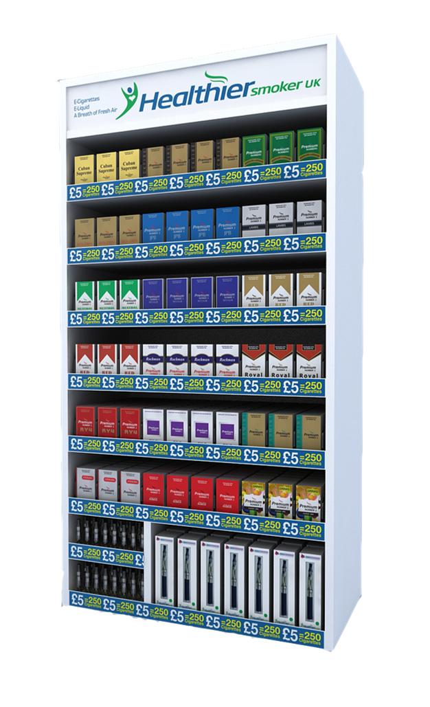 E-Cig Display Cabinet