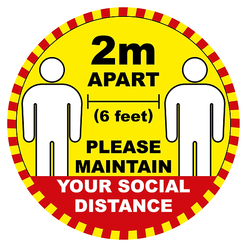 Social Distancing Signage Pack - 51 Assorted Signs