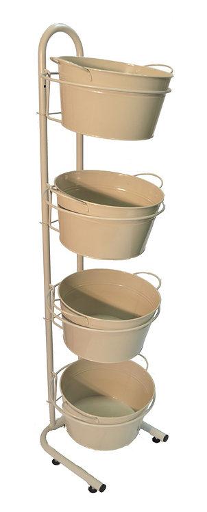 DWD-W4F-T  4 Tier Metal Tub Display Stand