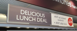 Greggs Meal Deal Menu Board Holder