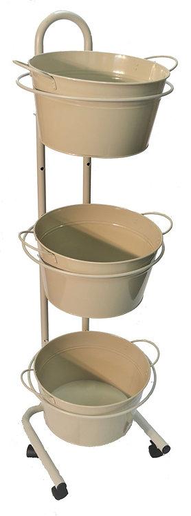 DWD-W3F-T  3 Tier Metal Tub Display Stand