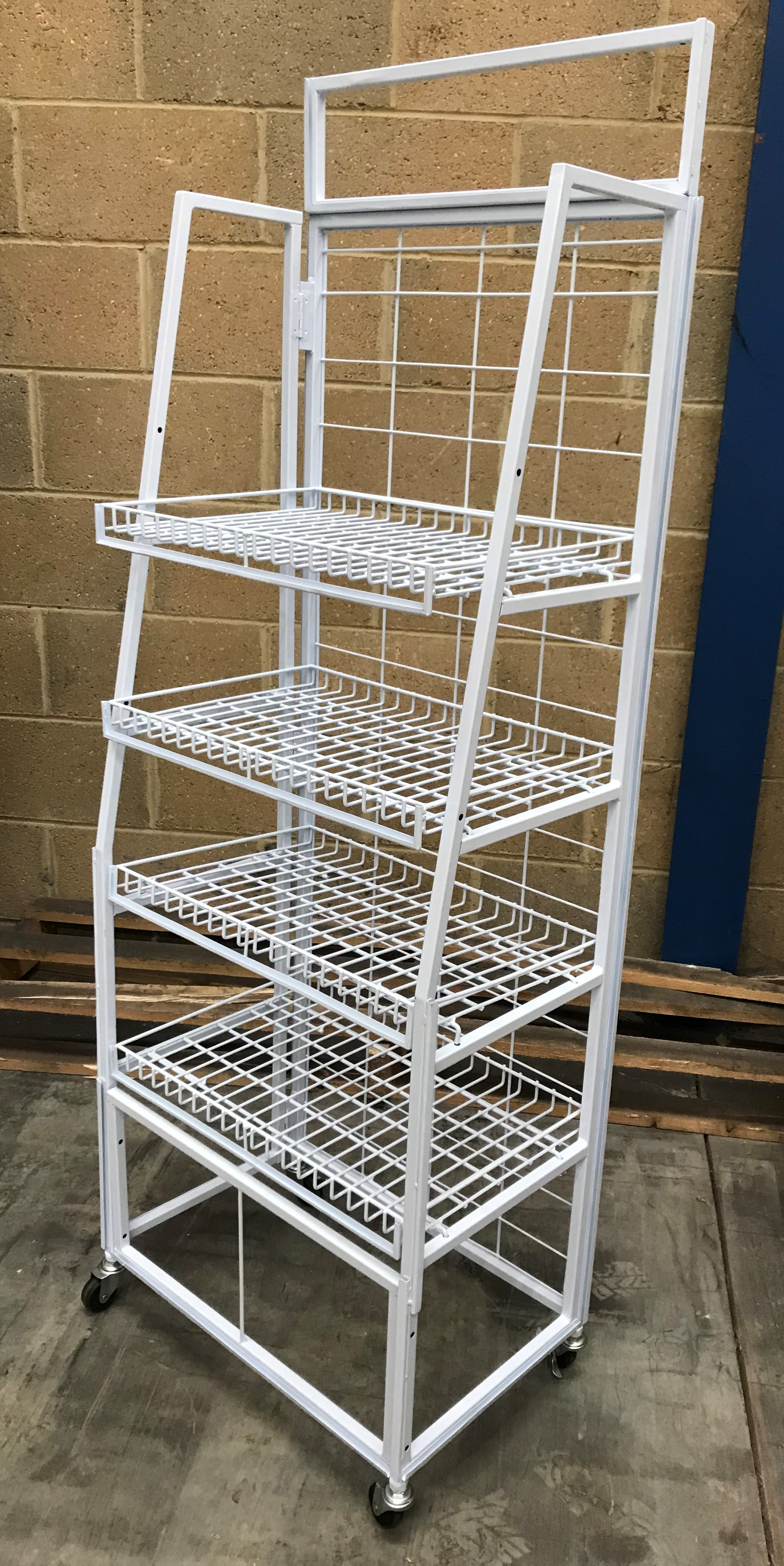 Tube & Wire 4 Shelf FSDU