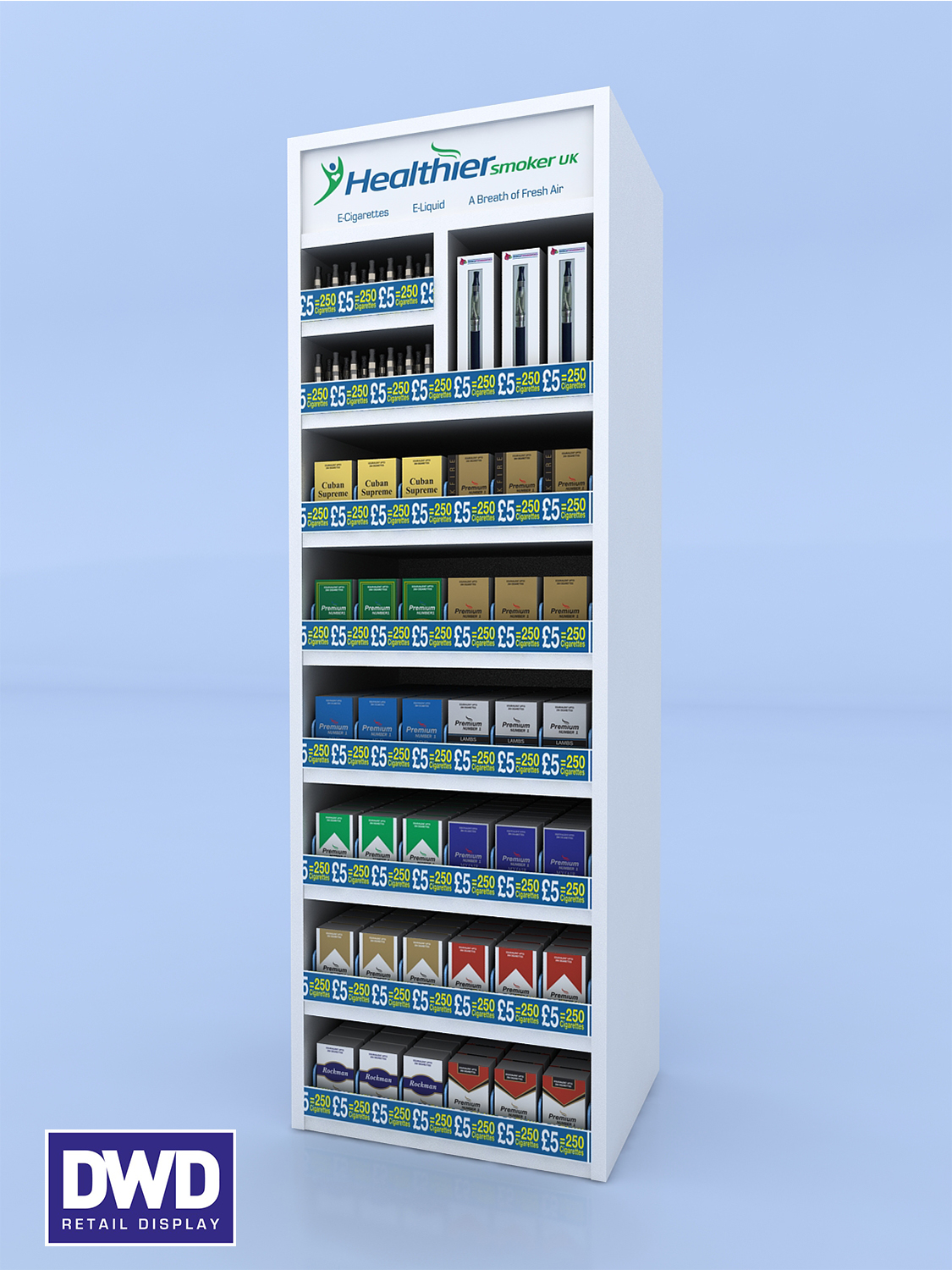 Excellence E-Cig Display MKIII Vertical