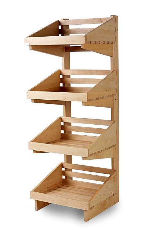 DWD-W4FG - 4 Tier Wooden Display Stand