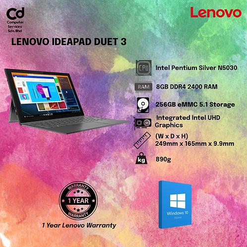 "Lenovo IdeaPad Duet 3 10IGL5 82AT00A3MJ 10.3"" Laptop/ Notebook (N5030, 8GB, 256G"
