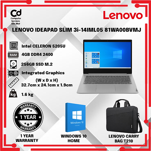 LENOVO IDEAPAD SLIM 3i-14IML05 81WA00BVMJ / 81WA00BWMJ