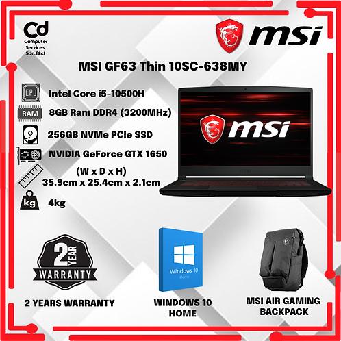 MSI GF63 Thin 10SC-638MY