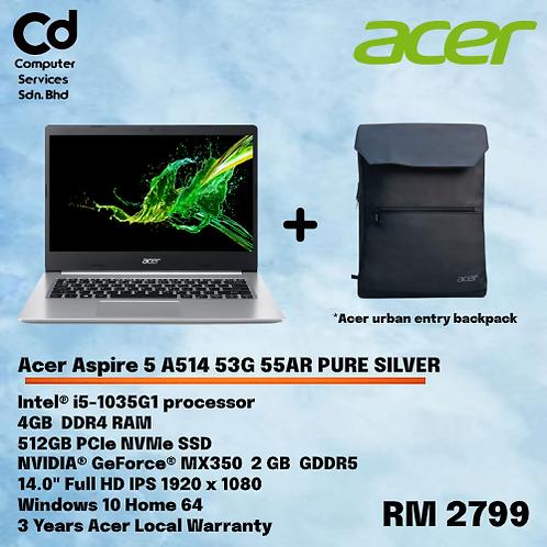 Acer Aspire 5 A514 53G 55AR Pure Silver