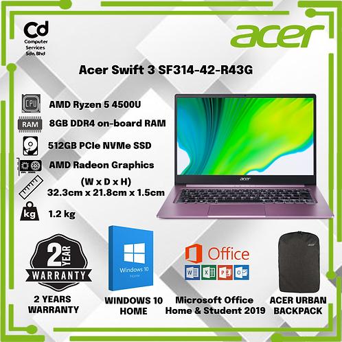 Acer Swift 3 SF314-42-R43G 14'' FHD Laptop Mauve Purple