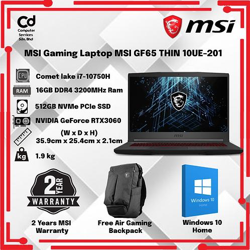 MSI Gaming Laptop MSI GF65 THIN 10UE-201 15.6″ FHD 144Hz IPS GAMING LAPTOP