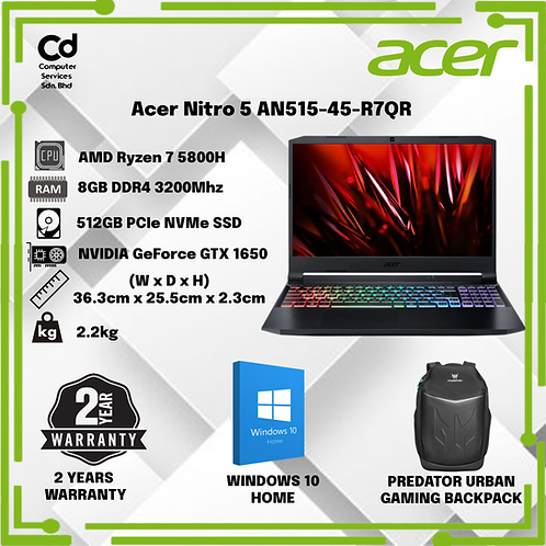 Acer Nitro 5 AN515-45-R7QR