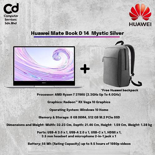 Huawei Mate Book D 14  Mystic Silver