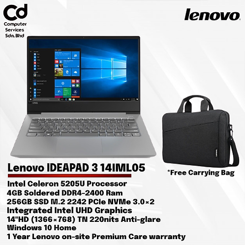 Lenovo Idea pad 3 14IML05 81WA00BVMJ