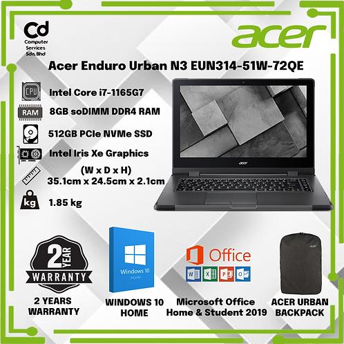 Acer Enduro Urban N3 EUN314-51W-72QE 14'' FHD Laptop Hunter Green
