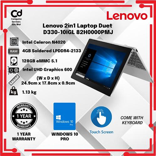 Lenovo 2in1 Laptop Duet D330-10IGL 82H0000PMJ
