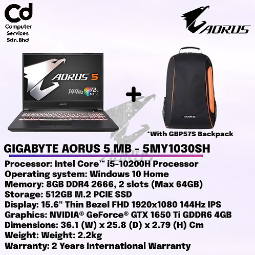 GIGABYTE AORUS 5 MB - 5MY1030SH