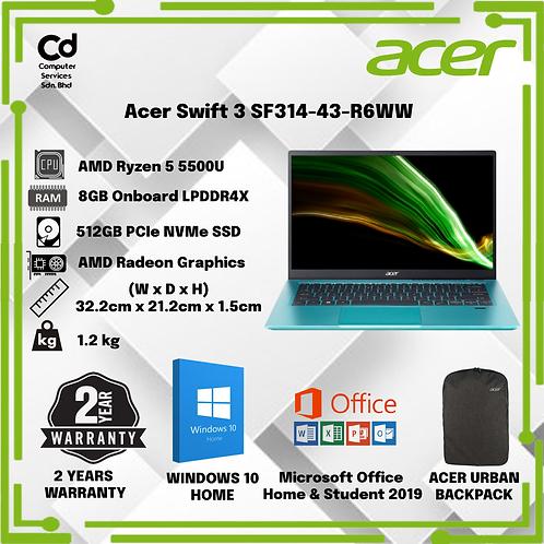 "Acer Swift 3 SF314-43-R6WW 14"" FHD Laptop"