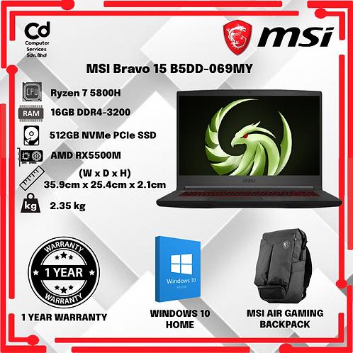 MSI Bravo 15 B5DD-069MY Gaming Laptop Black