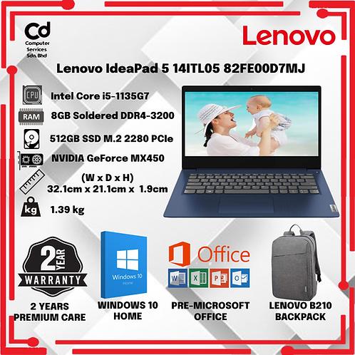 Lenovo IdeaPad 5 14ITL05 82FE00D7MJ 14'' FHD Laptop Abyss Blue