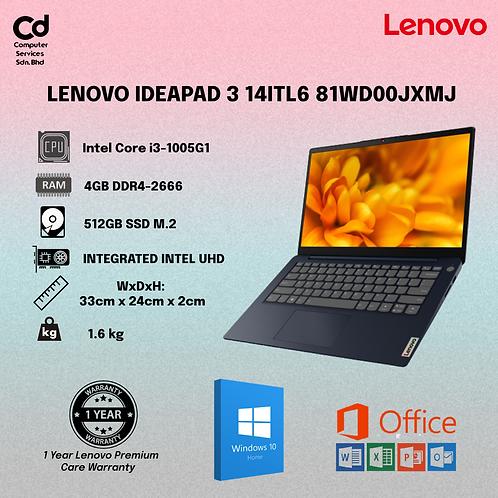 Lenovo IdeaPad 3 14IIL05 81WD00JXMJ 14'' FHD Laptop Abyss Blue