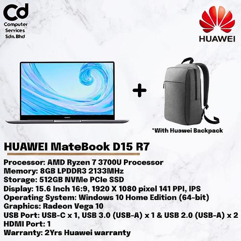 Huawei Mate Book D 15  Mystic Silver  R7