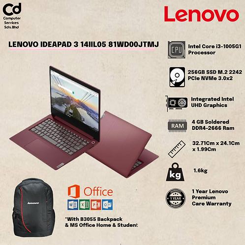 Lenovo IdeaPad 3 14IIL05 81WD00JTMJ