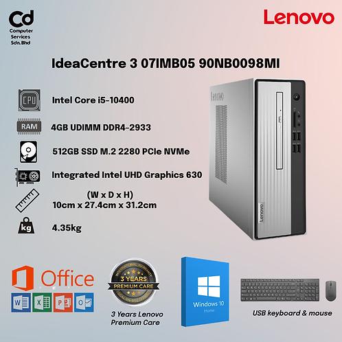 Lenovo IdeaCentre 3 07IMB05 90NB0098MI Desktop PC