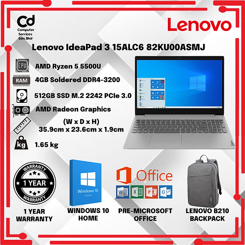 Lenovo IdeaPad 3 15ALC6 82KU00ASMJ
