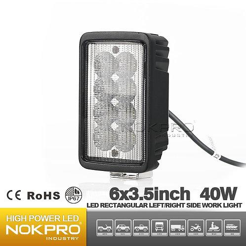 LED Rectangular Front/Rear Tractor Upper Cab or Fender Light N461B-40