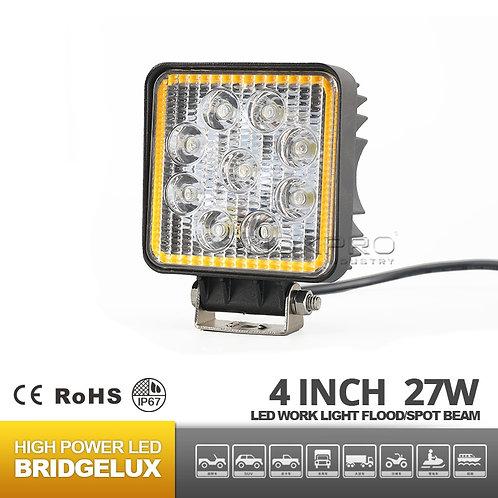 27W  hola rings Square LED work Lights N342F-27S