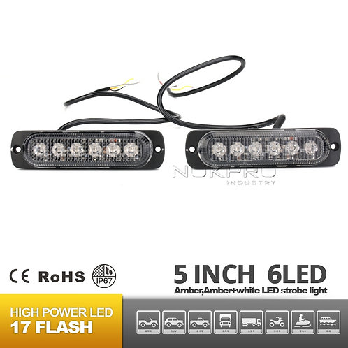 3 Watt 6 LED Emergency Vehicle Grill Warning Light Head N184-6