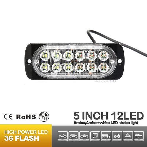 12LED Surface Super Slim Mount Warning Light 12V 24V,LED Strobe Grill Lights 183