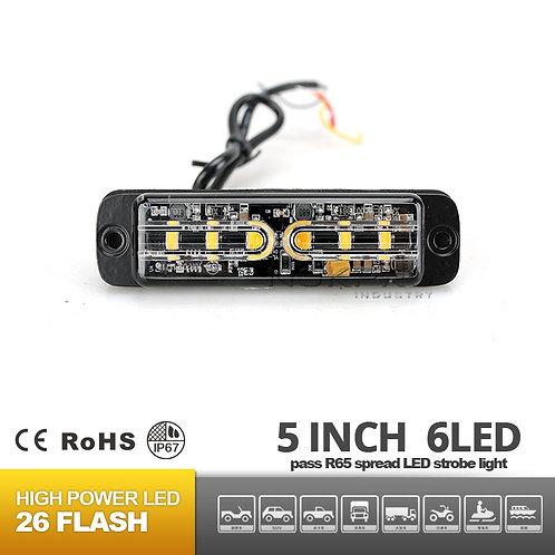 6 LED Surface Super Slim Mount Warning Light 12V 24V R65 N203