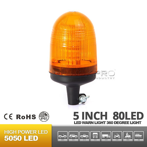 Din Pole Amber Rotating LED beacon N206C